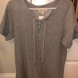 NWT Michael Kors Women's Lace-Up Top.